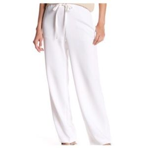 THEORY Wide Leg High-Rise White Winszlee Pant, L